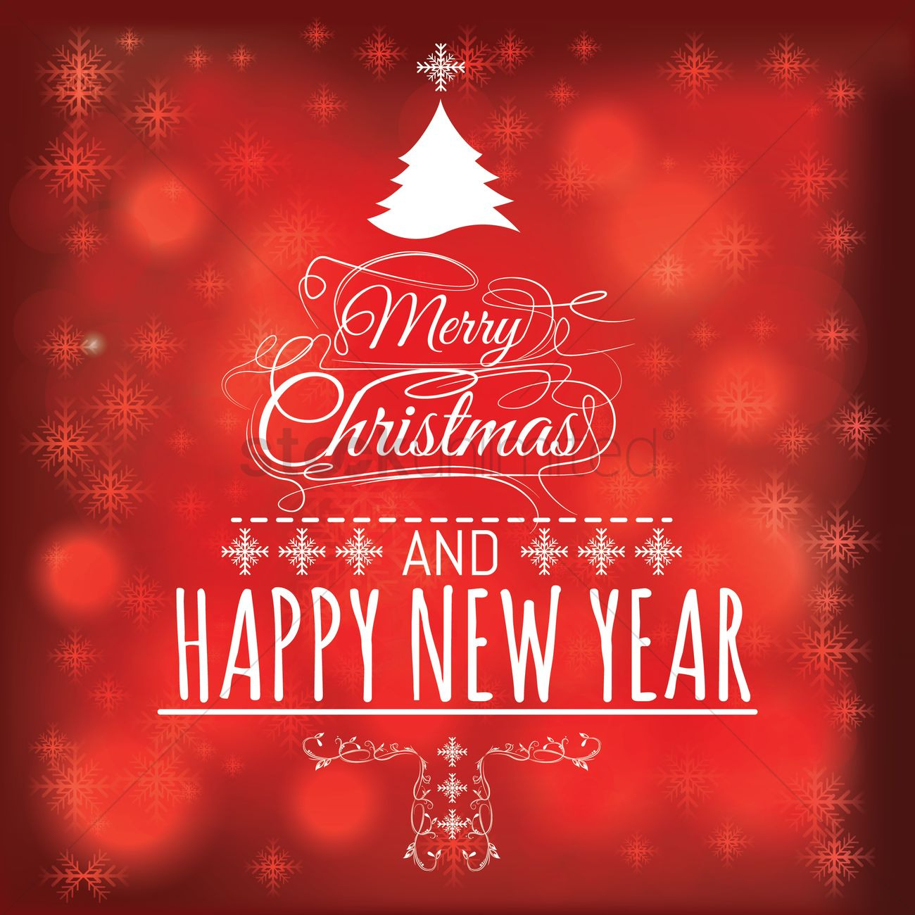 Free Merry Chirstmas And New Year Greetings Vector Image 1603995