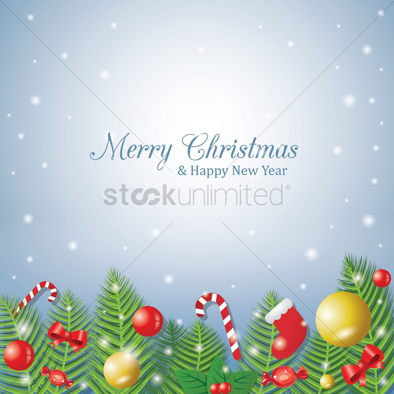 Free Merry Christmas Images.Free Merry Christmas Card Vector Image 1499055