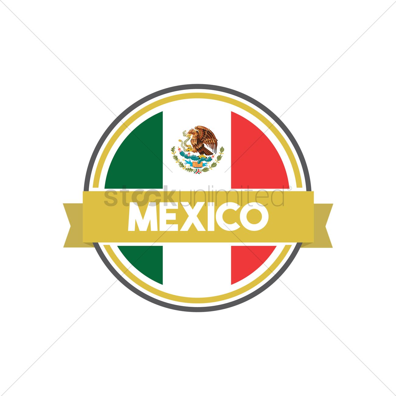 mexican flag label vector image 1618487 stockunlimited