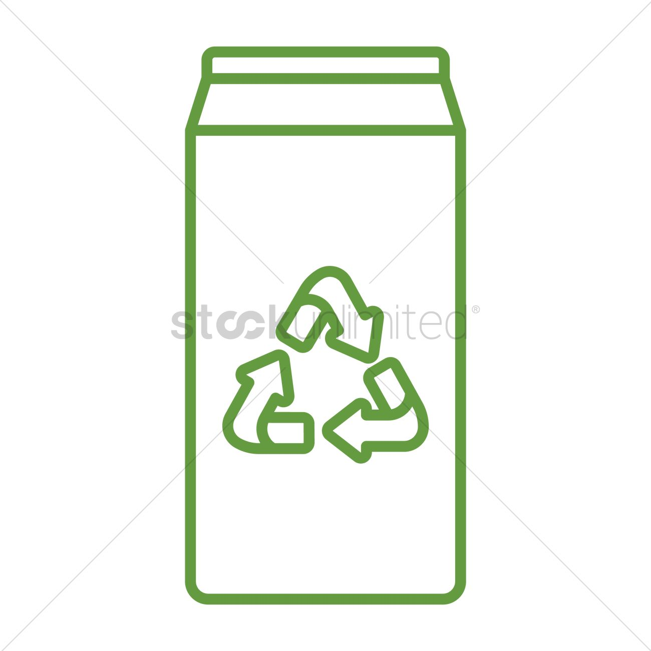 Milk Carton With Recycle Symbol Vector Image 1647683 Stockunlimited