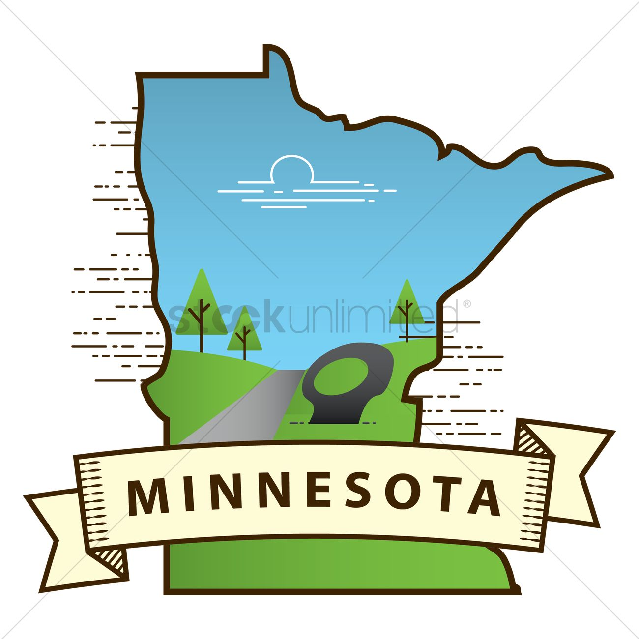 Minnesota State Map Vector Image 1564467 Stockunlimited