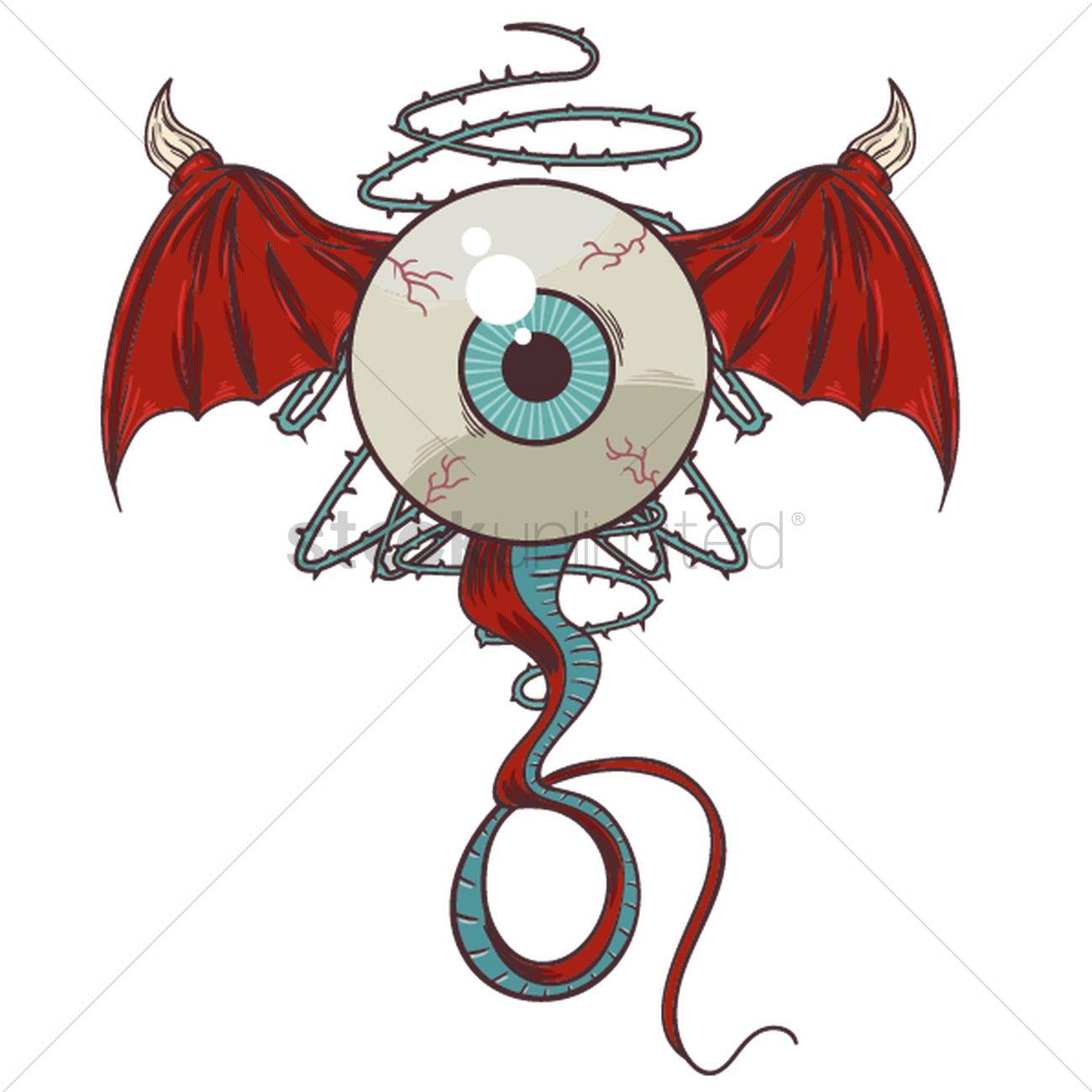 Monster Tattoo Design Vector Image 1435003 Stockunlimited