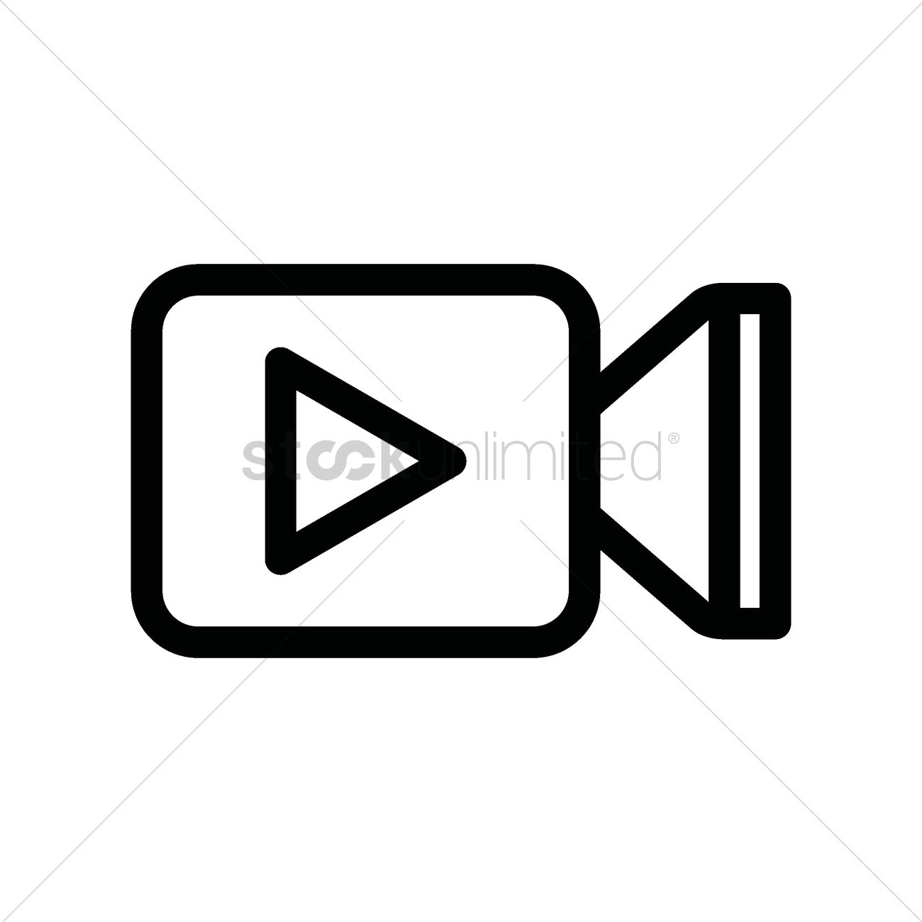 Movie Play Icon Vector Image 1947263 Stockunlimited