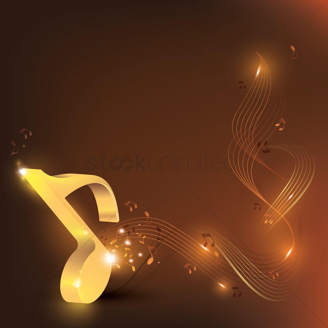 Musical Background Design Vector Image 1994447