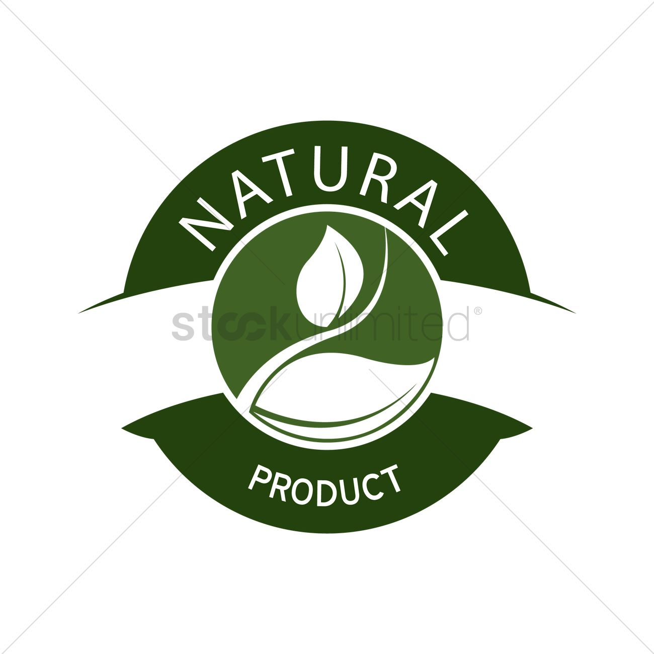 natural product label design vector image 1420515 stockunlimited