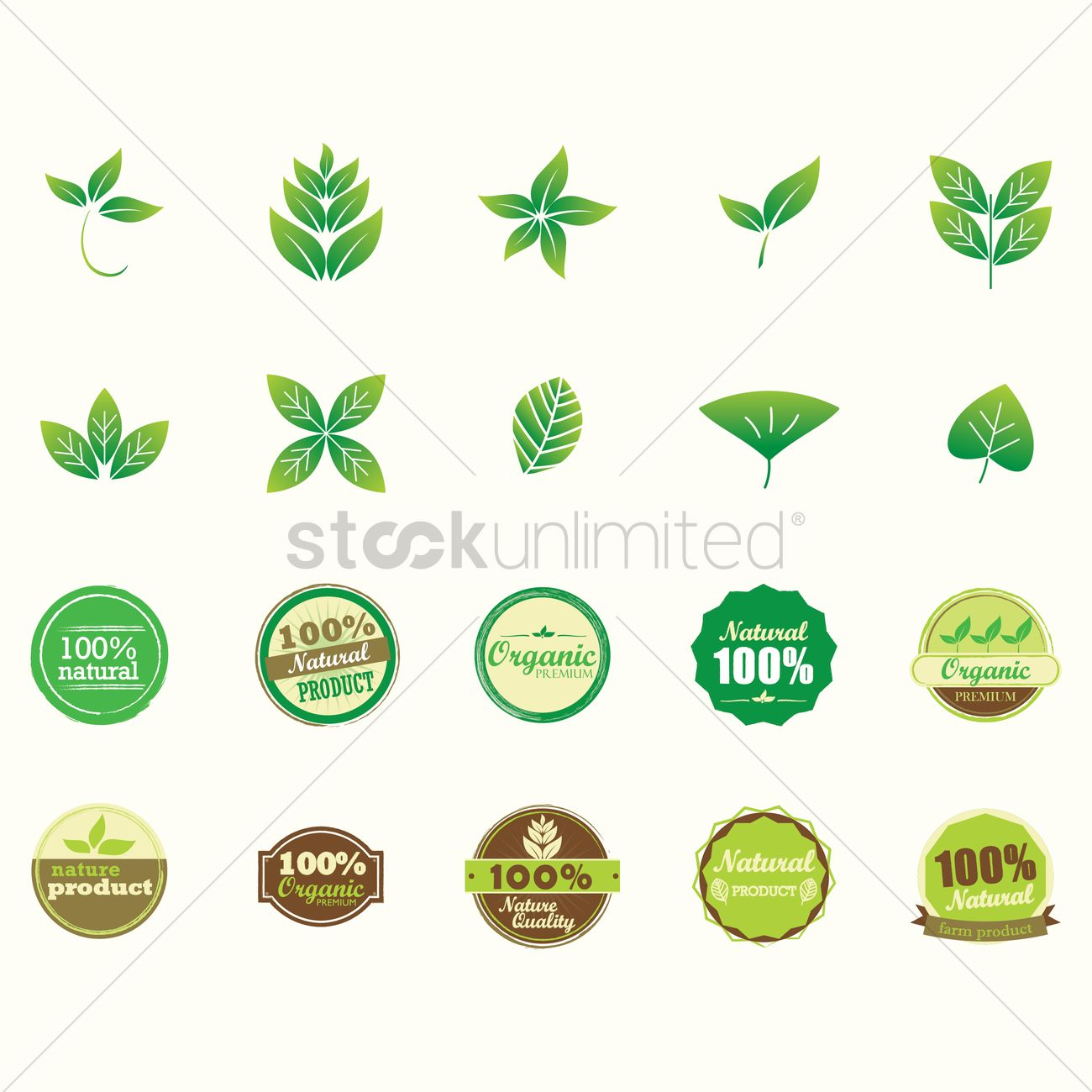 Natural product labels Vector | Free Download