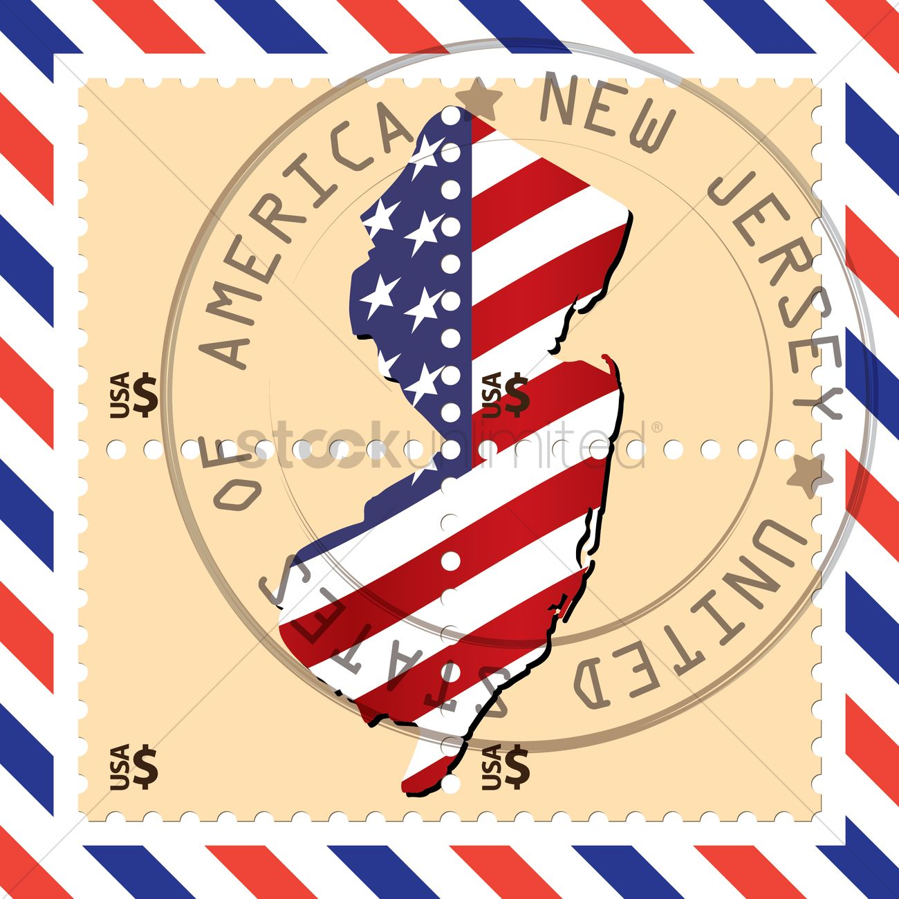 New Jersey Stamp Vector Graphic