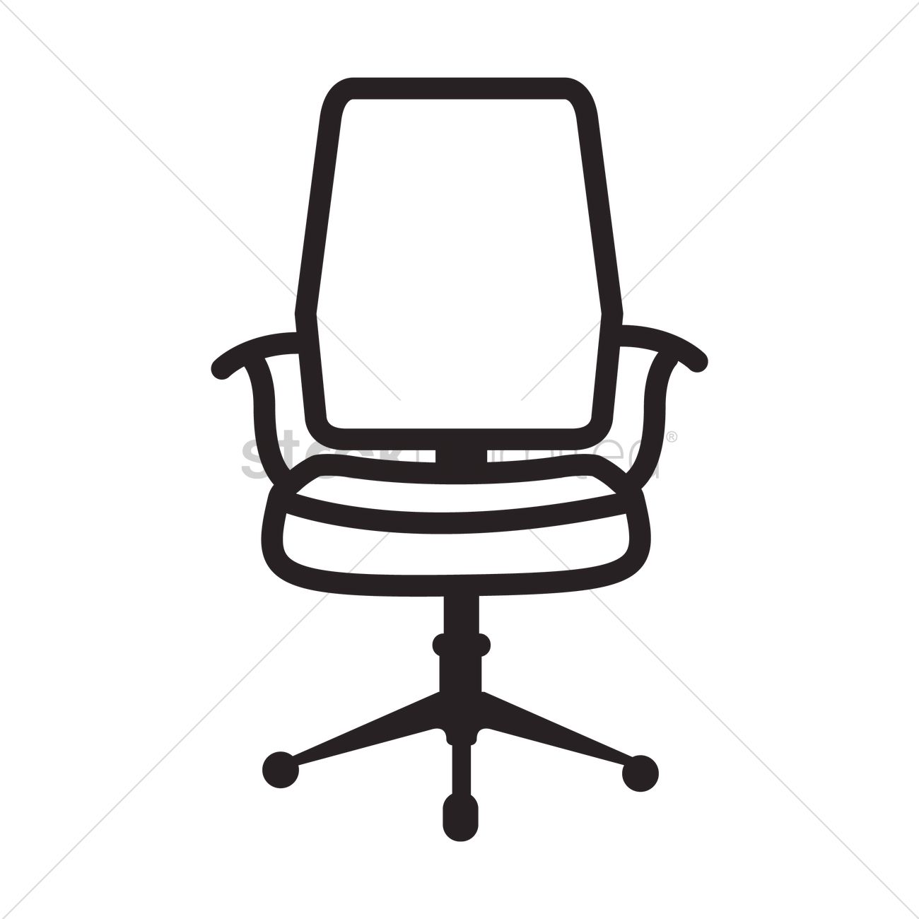 Office Chair Icon Vector Graphic