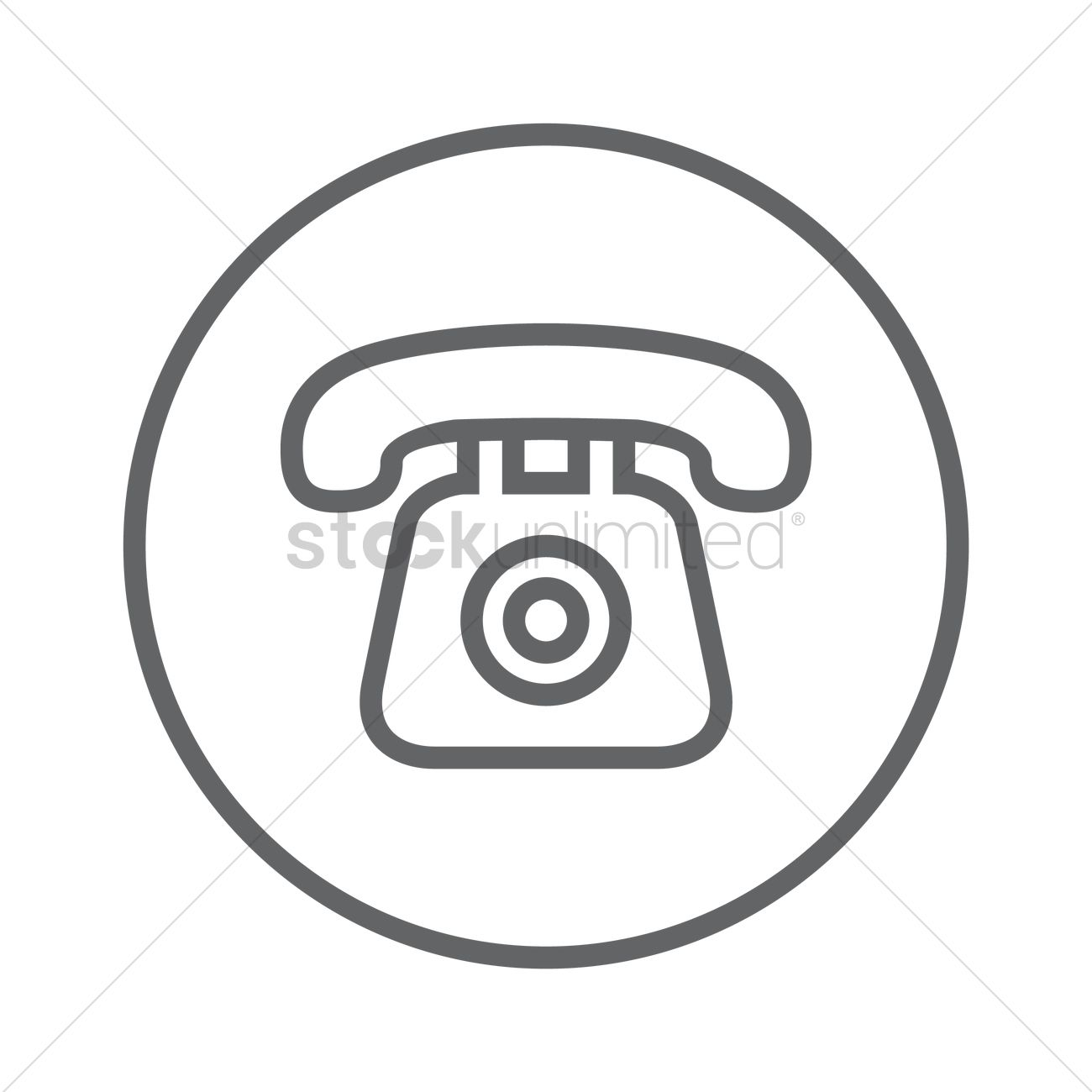 Old telephone Vector Image - 1257523 | StockUnlimited
