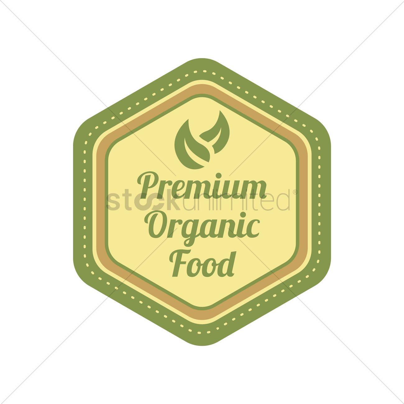 Organic food label design Vector Image - 2029883