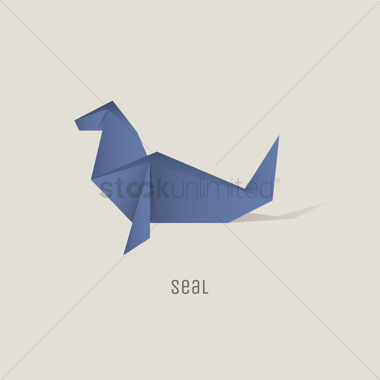 Origami seal vector image 1817831 stockunlimited origami seal vector graphic jeuxipadfo Gallery