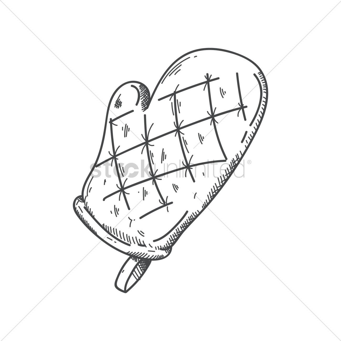 Oven Glove Vector Image 1819335 Stockunlimited
