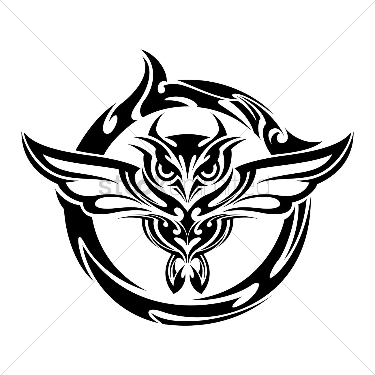 Owl Tattoo Vector Image 1441387 Stockunlimited