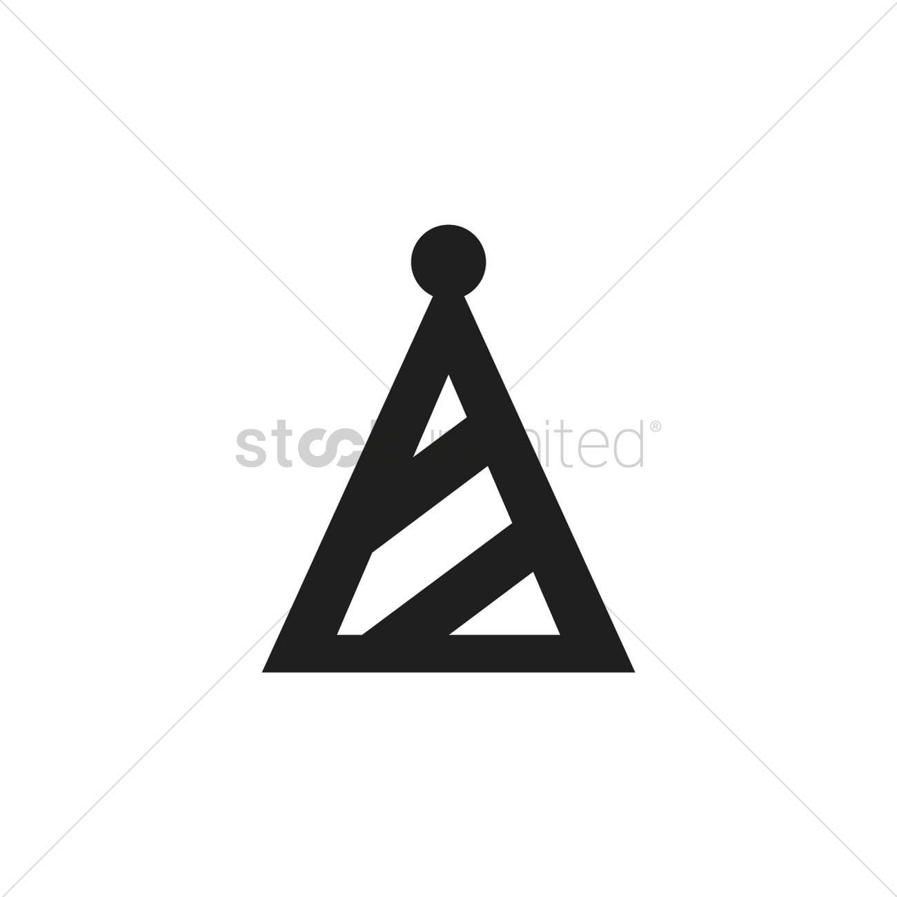 Party Hat Icon Vector Image 2024471 Stockunlimited