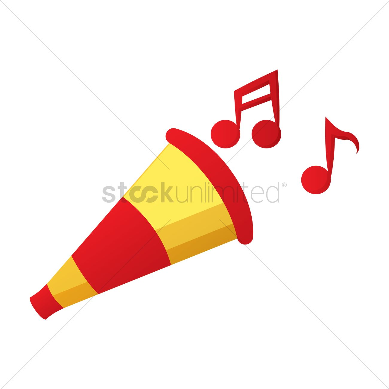 Party Horn Vector Graphic
