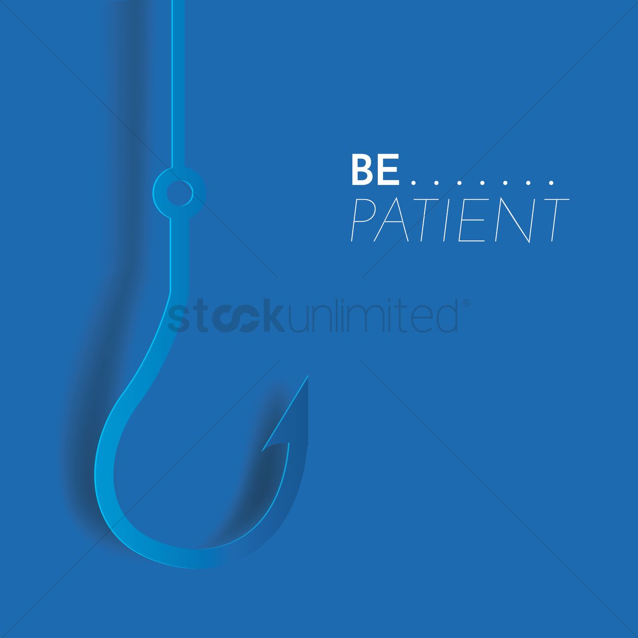 Patience motivational quote Vector Image - 1812039