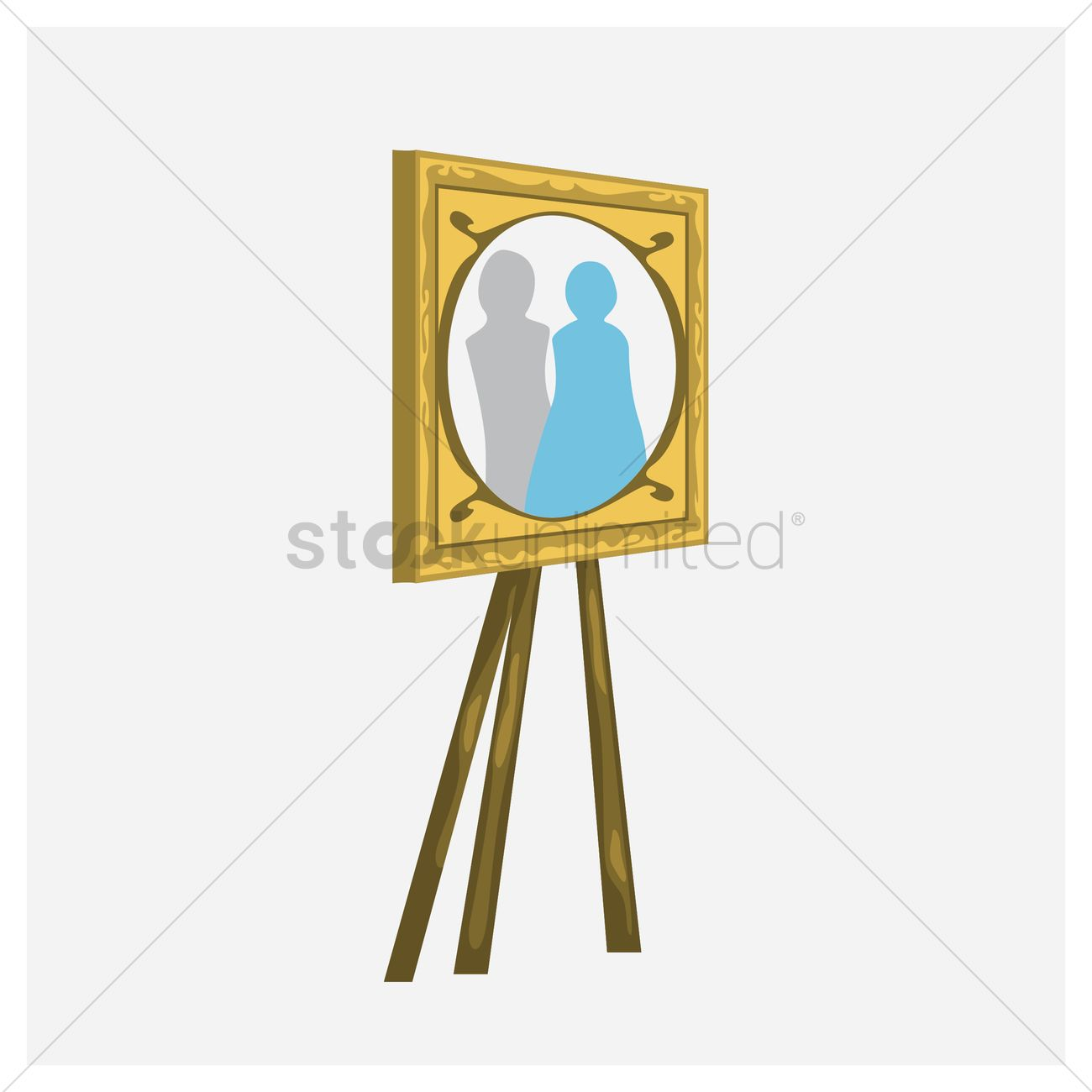 Photo Frame On Stand Vector Image