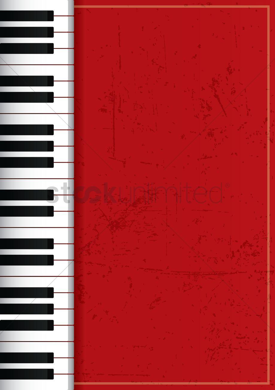 Piano Poster Design Vector Graphic