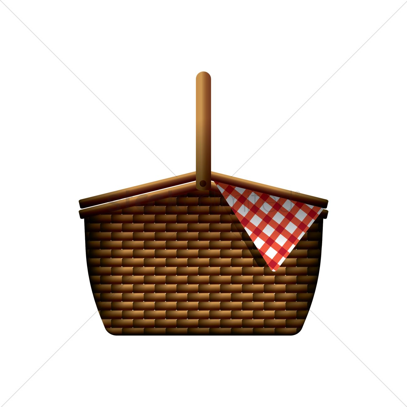 Picnic Basket Vector Image 1895495 Stockunlimited