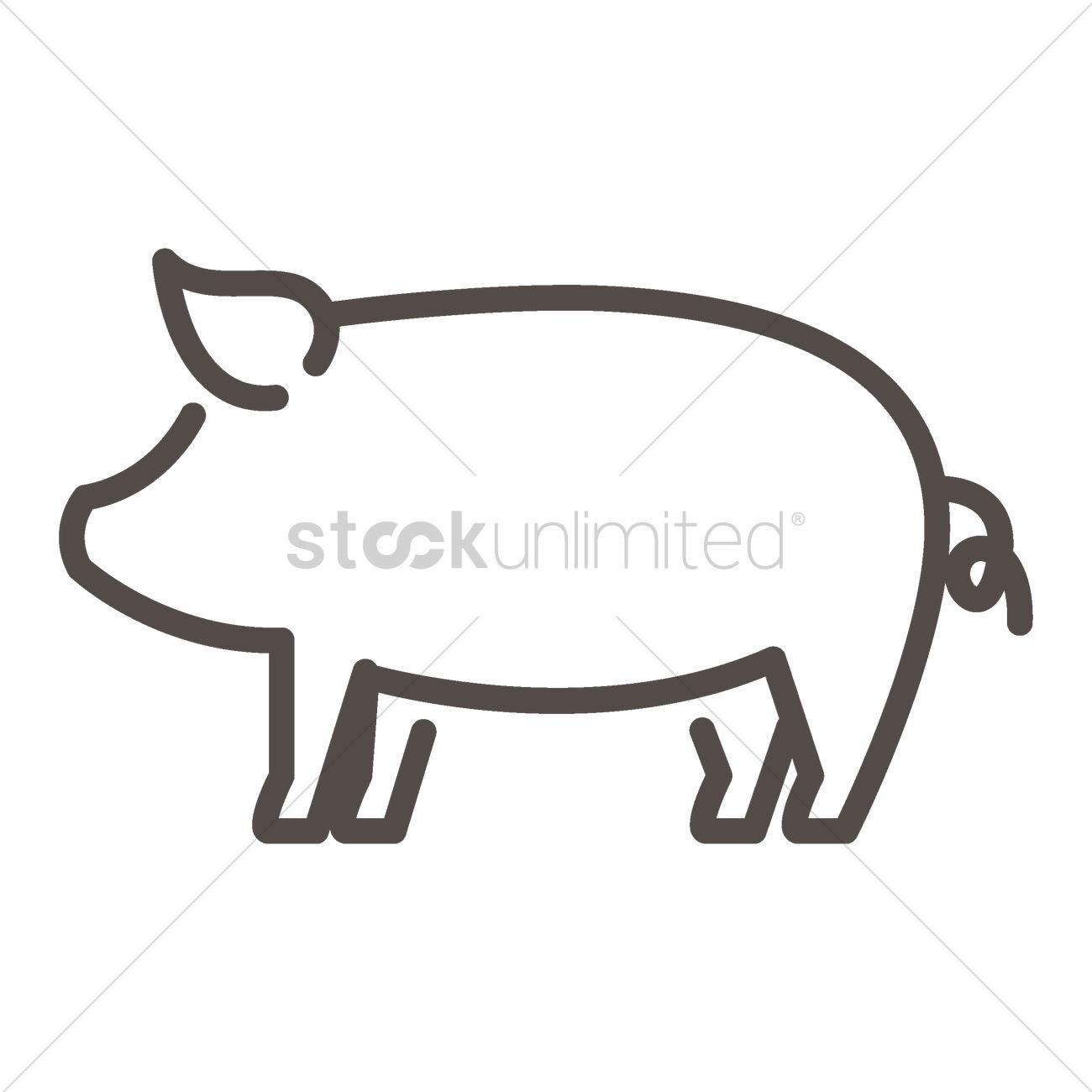 outline of a pig - terat  terat