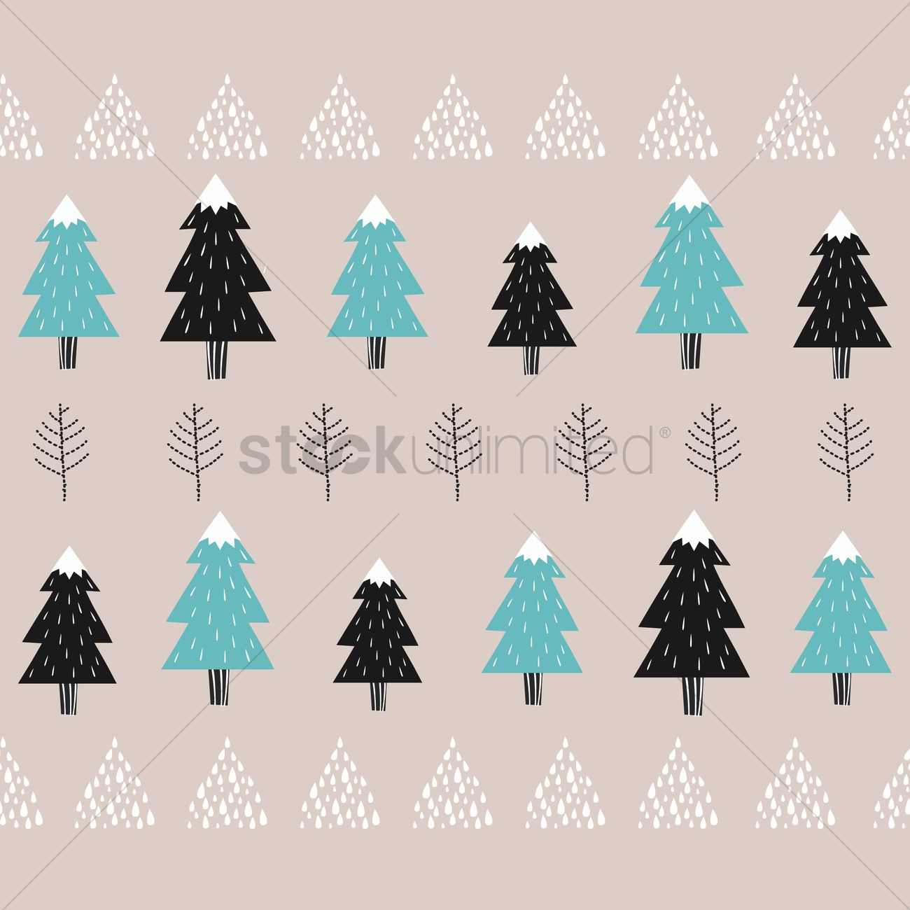 Pine Trees Background Design Vector Image 1975079 Stockunlimited
