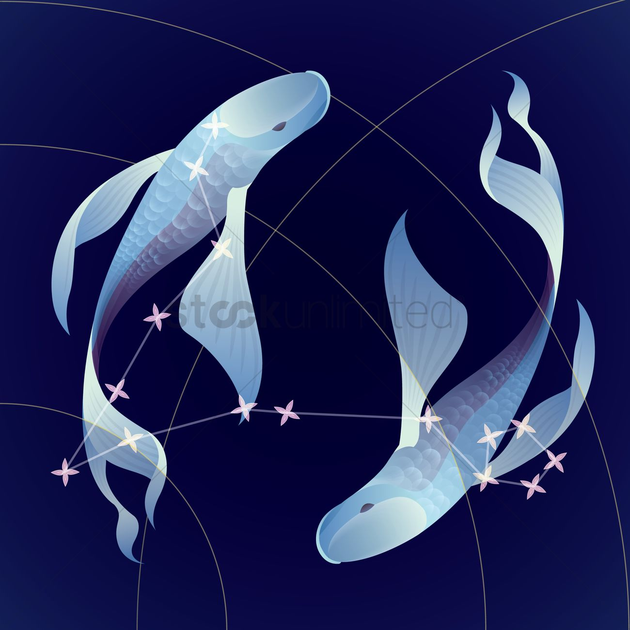 Pisces constellation Vector Image - 1969067 | StockUnlimited