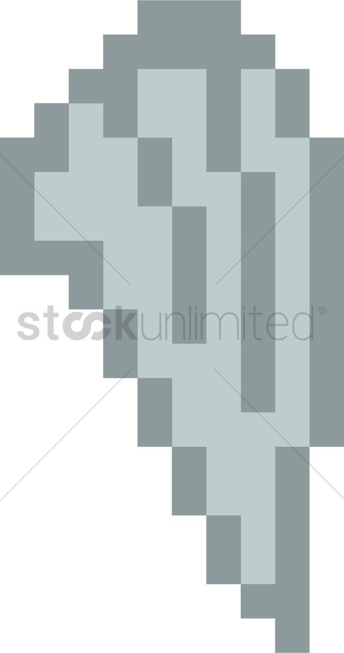 Pixel Angel Wings Vector Image 2021443 Stockunlimited