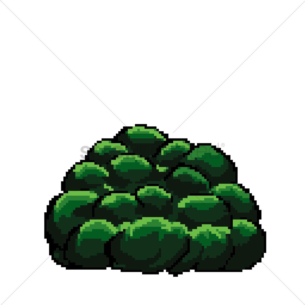 Pixel Art Bush Vector Image 1959583 Stockunlimited