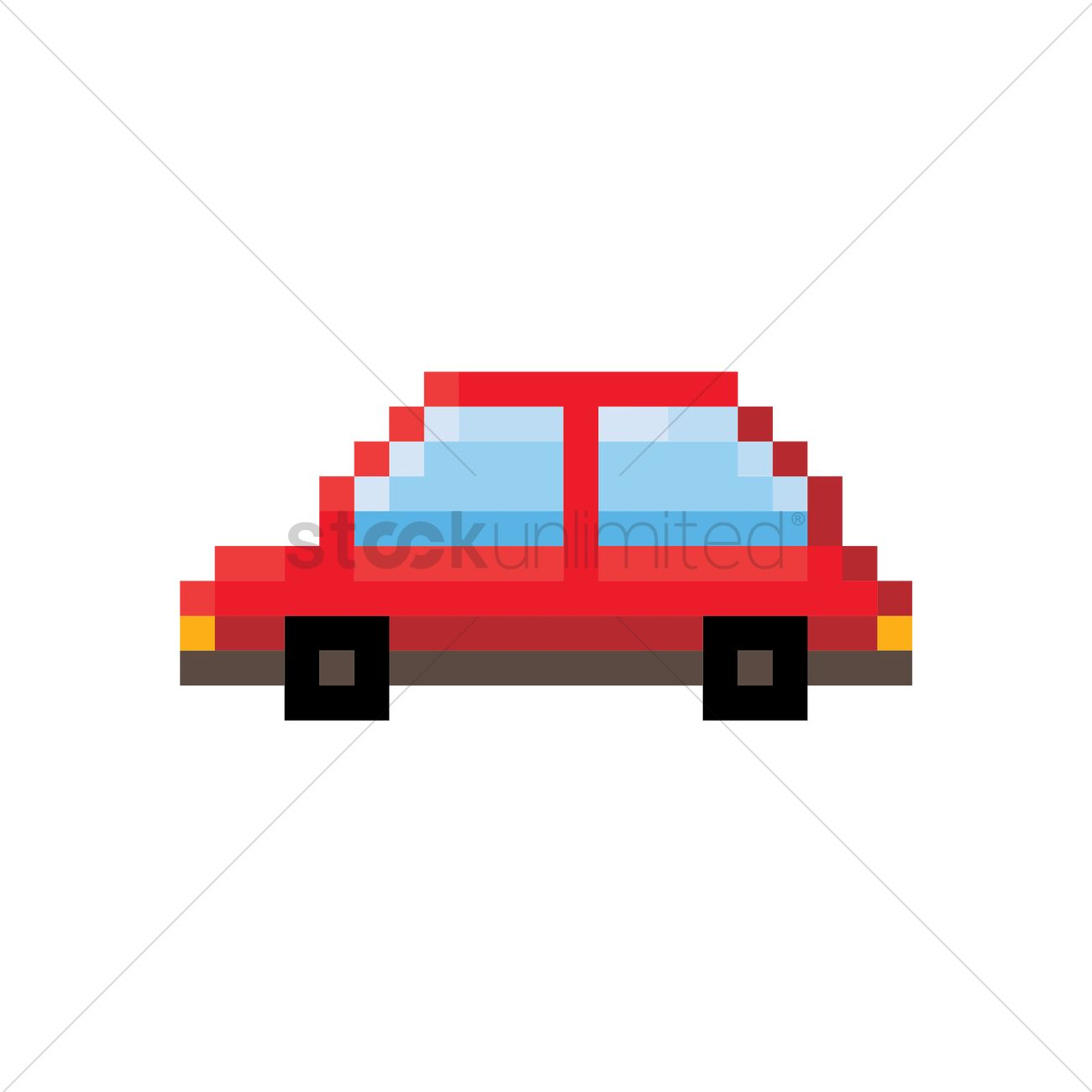 Pixel Art Car Vector Image 1957783 Stockunlimited