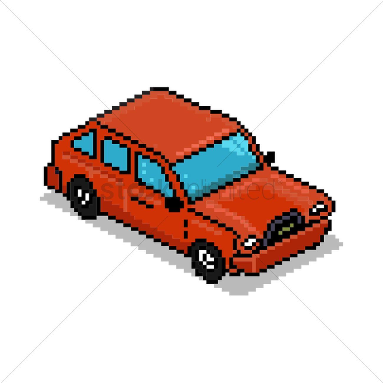Pixel Art Car Vector Image 1959075 Stockunlimited