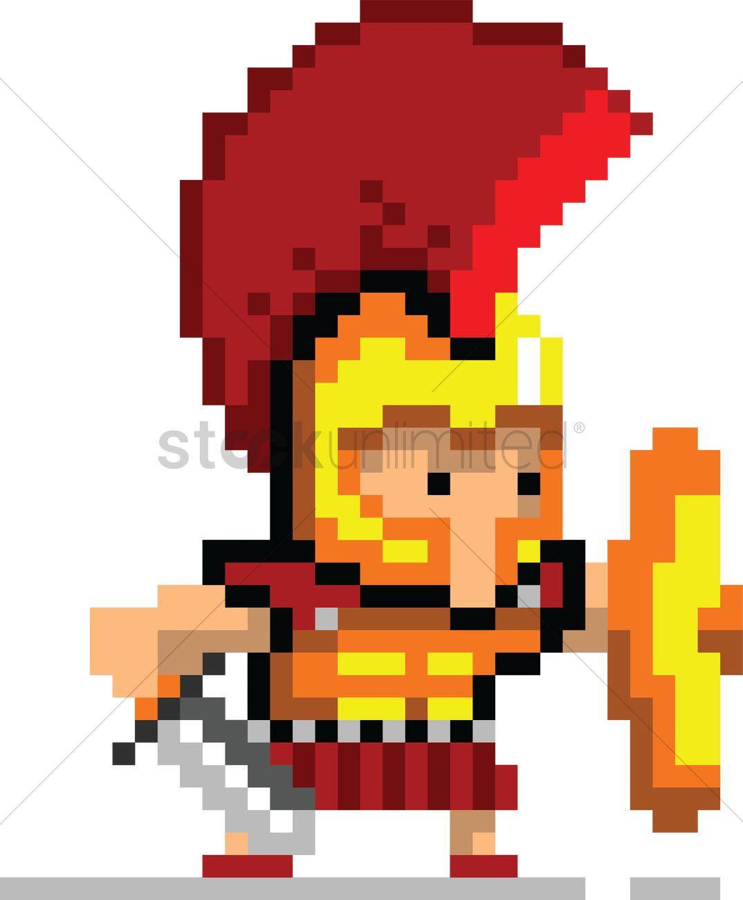 Pixel Art Gaming Character Vector Image 2022335