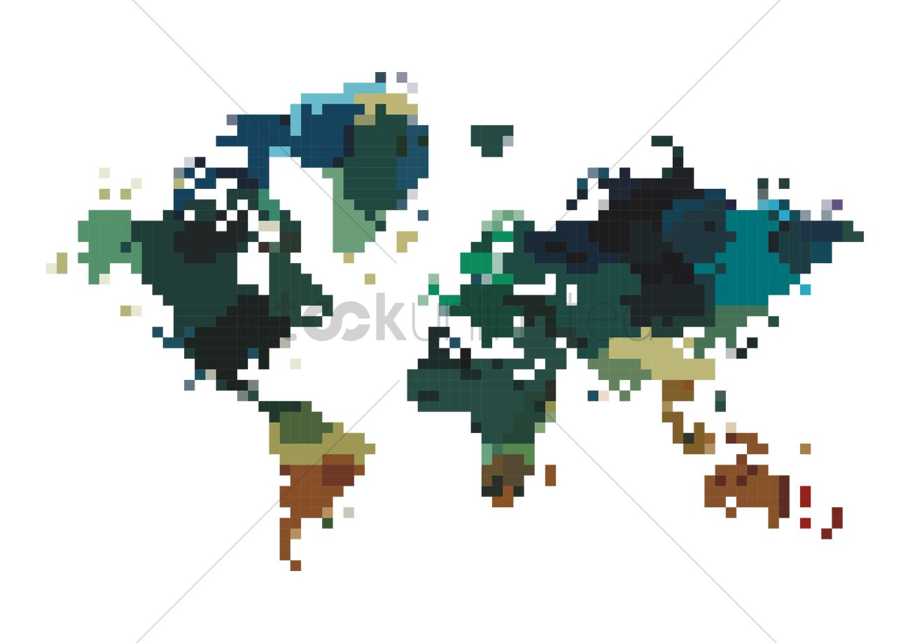 Pixel art map Vector Image - 2009523 | StockUnlimited on