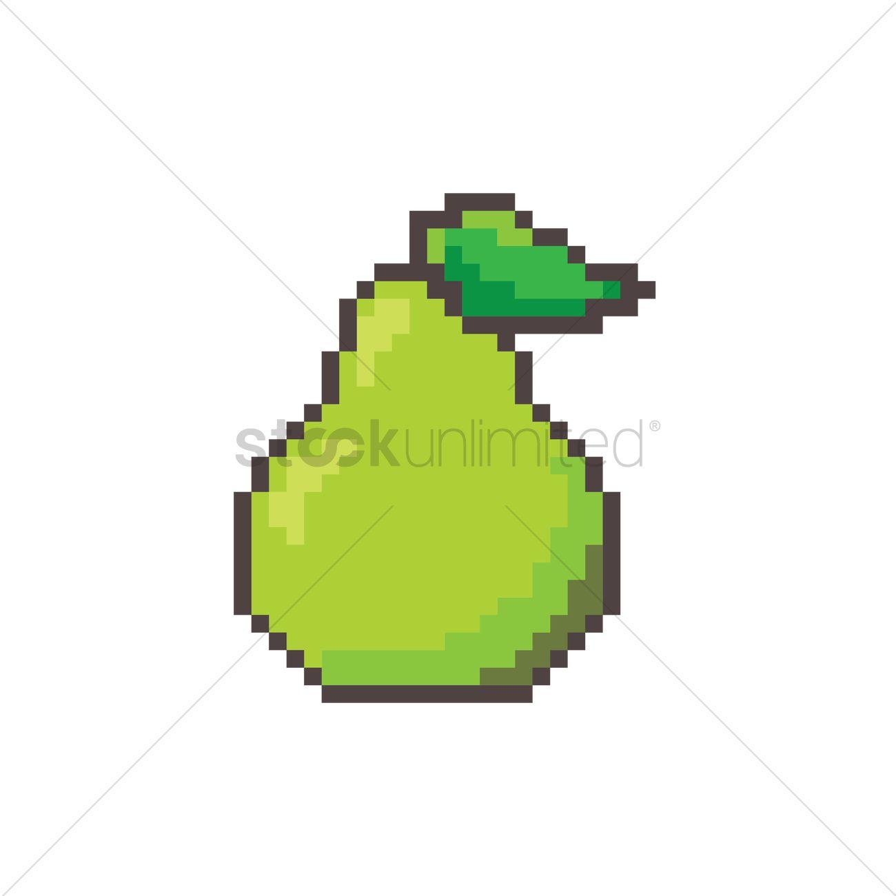 Pixel Art Pear Vector Image 1957703 Stockunlimited