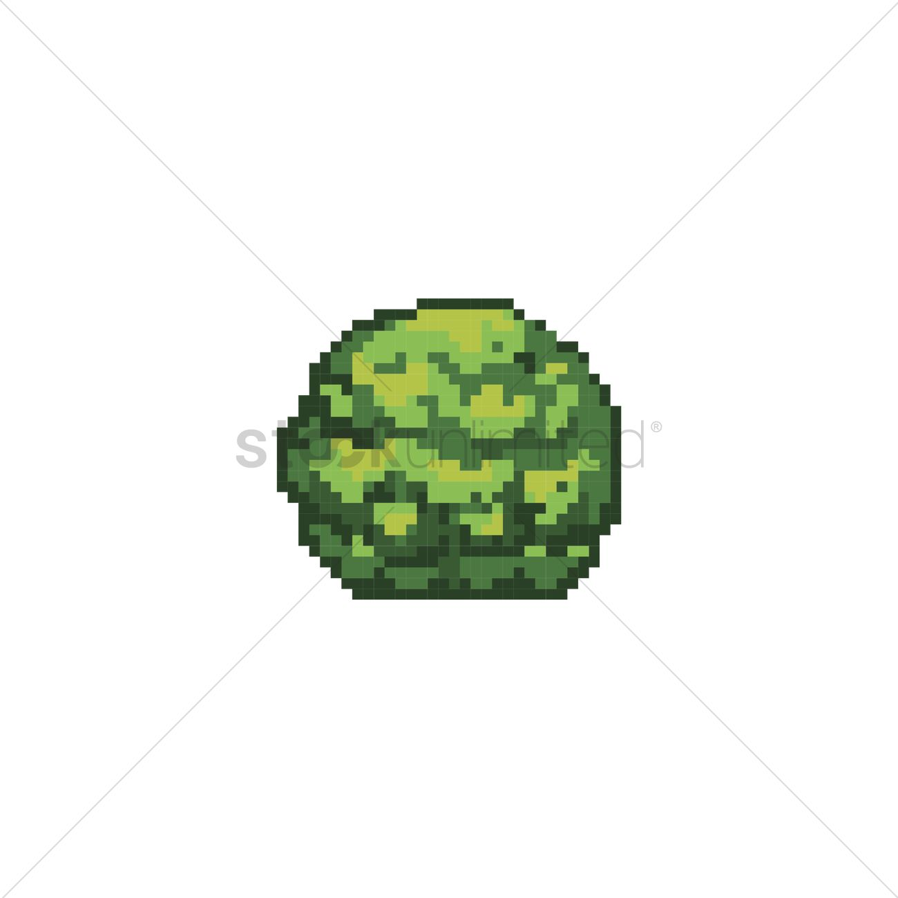 Pixelated moss plant Vector Image - 2008655 | StockUnlimited