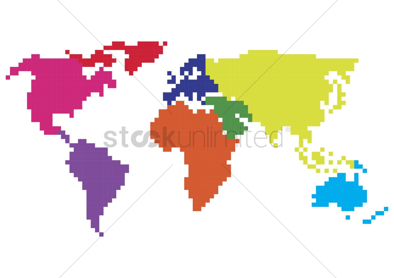 Pixelated world map vector image 2008791 stockunlimited pixelated world map vector graphic gumiabroncs Gallery