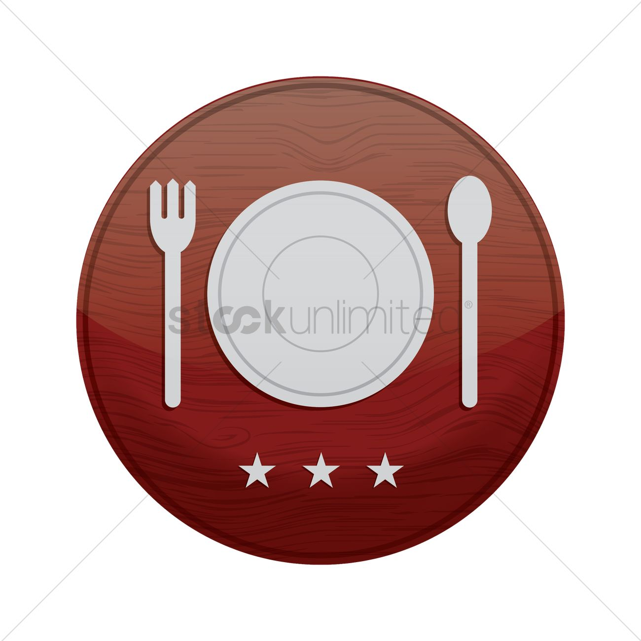 Plate With Fork And Spoon Vector Image 1874503 Stockunlimited