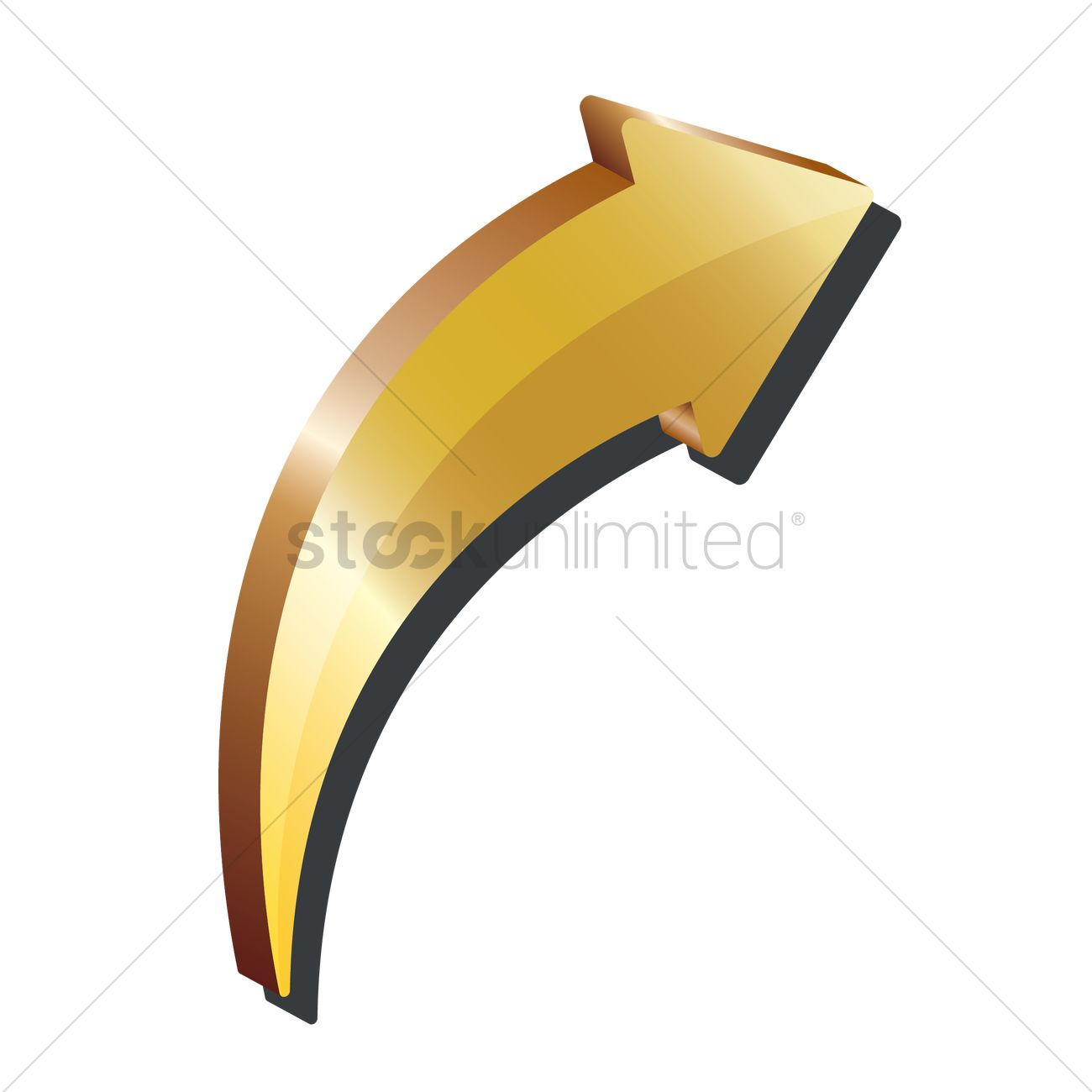 pointing arrow 3d icon vector image 1866847 stockunlimited