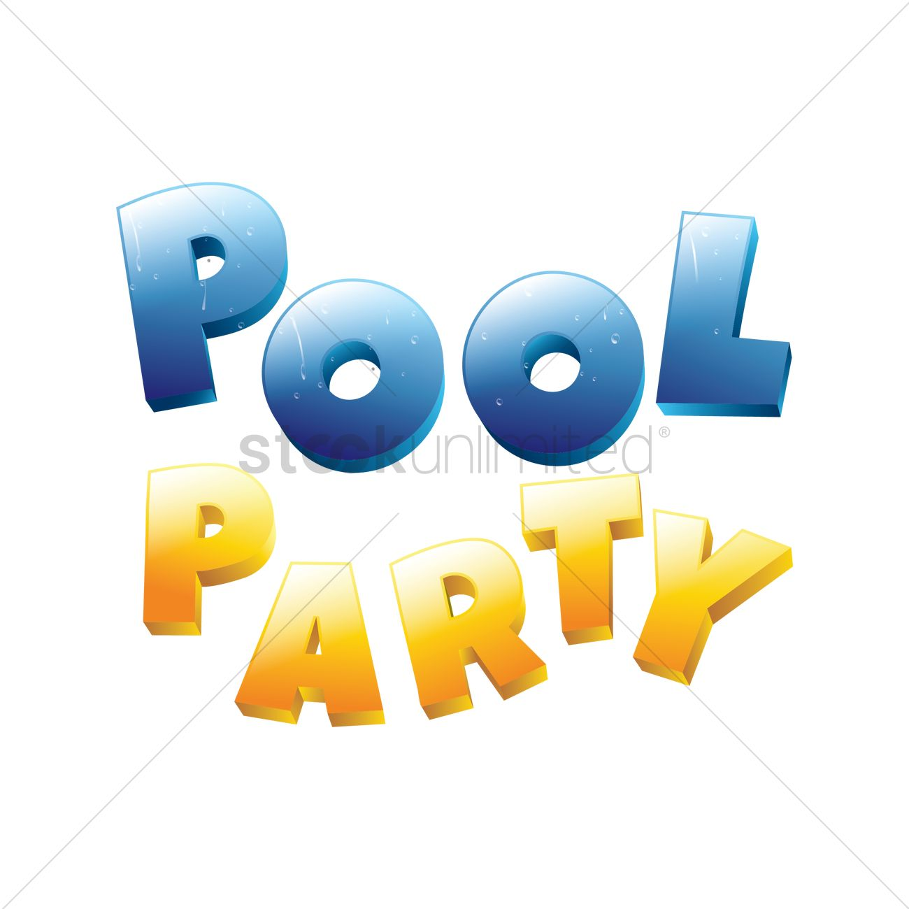 Pool party vector image 1933639 stockunlimited for Free clipart swimming pool party