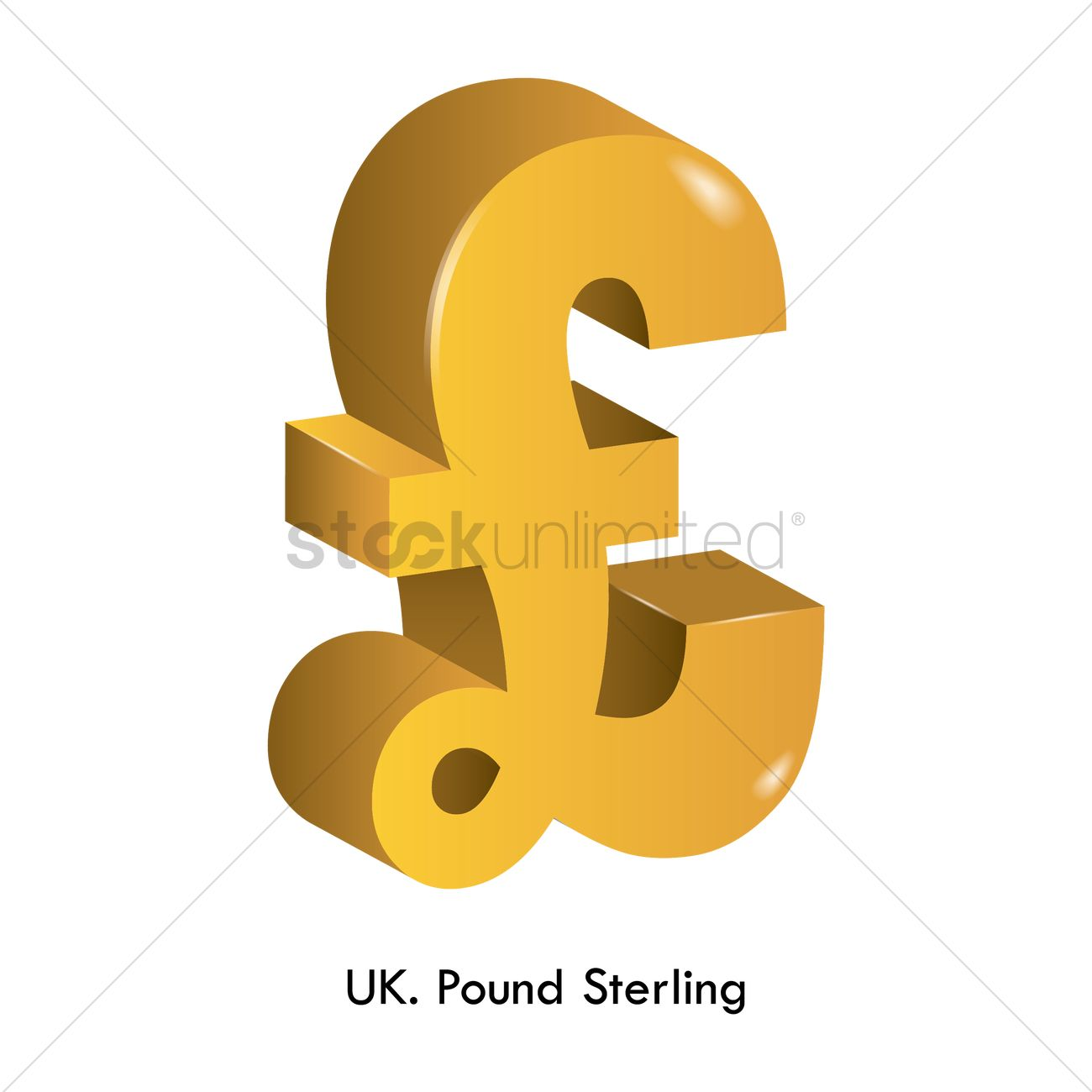 Pound Sterling Currency Vector Image 1821511 Stockunlimited