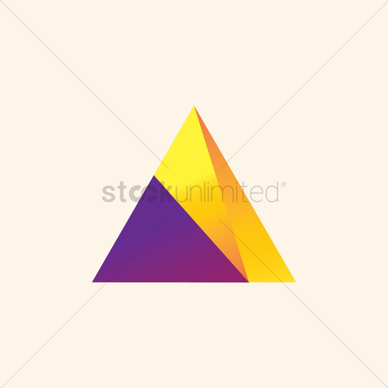 pyramid logo element vector image 1634039 stockunlimited