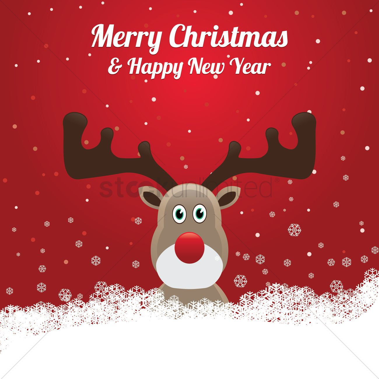 Reindeer With A Merry Christmas Message Vector Image 1527495