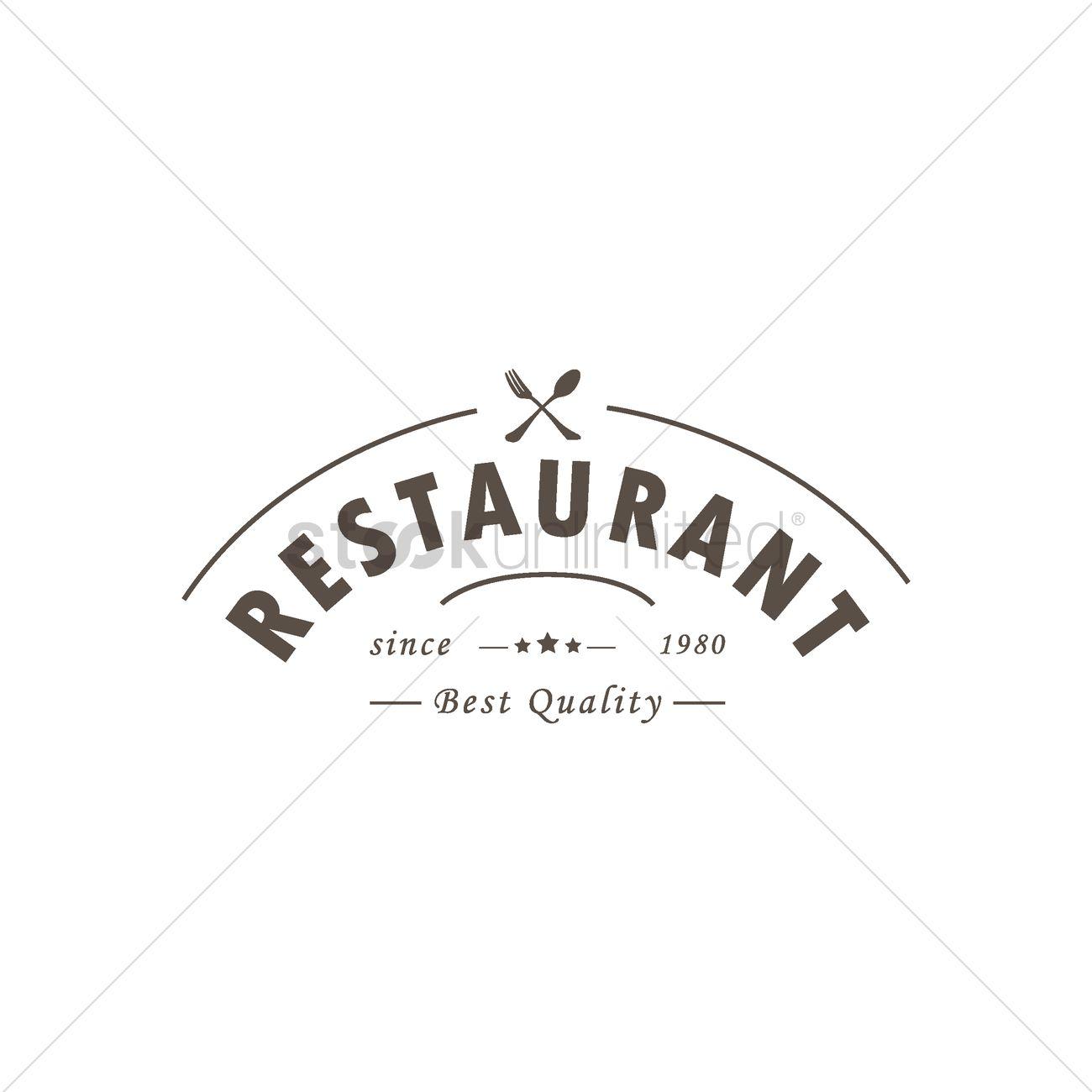 Restaurant Logo Design Vector Image 1797623 Stockunlimited