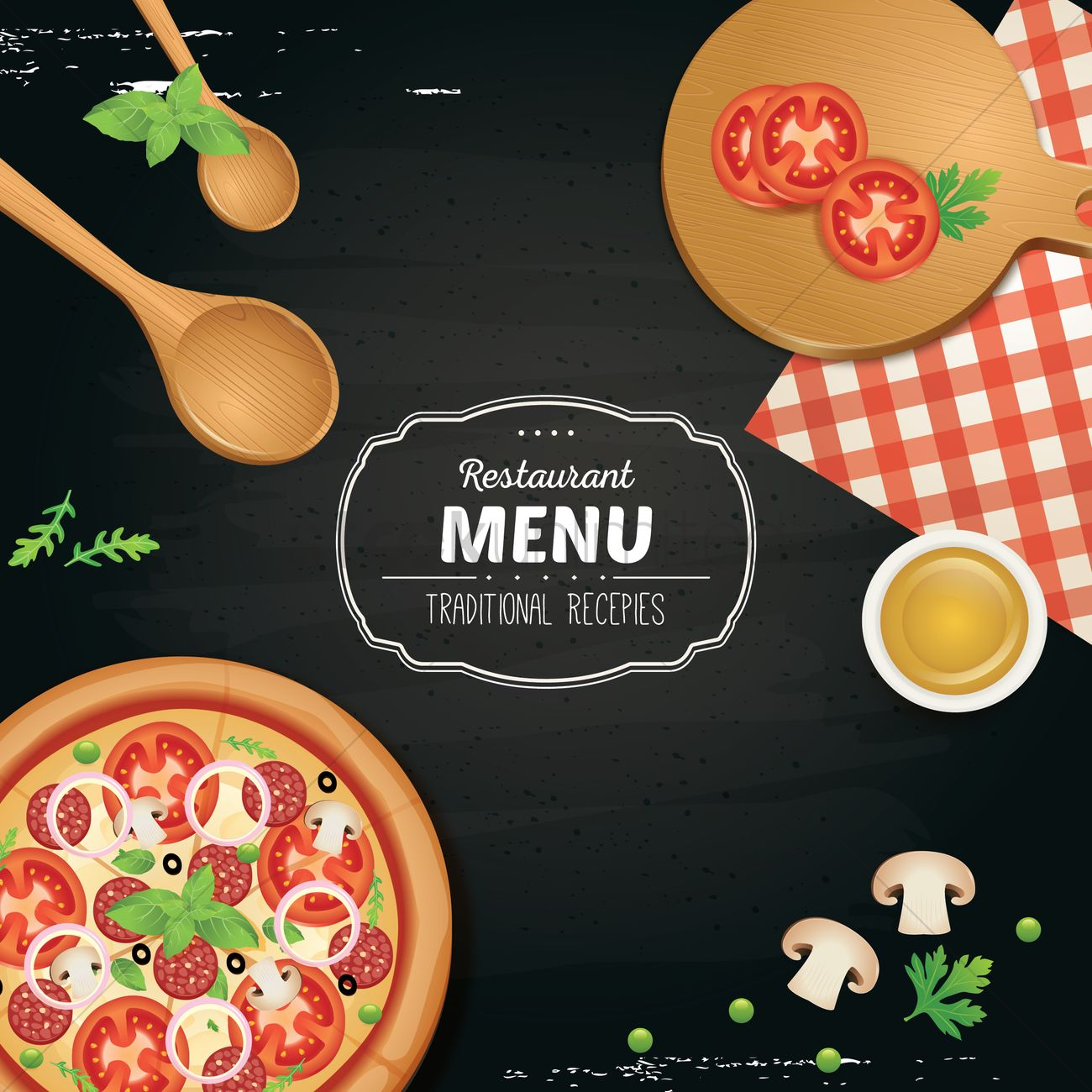 Restaurant Menu Wallpaper Vector Graphic