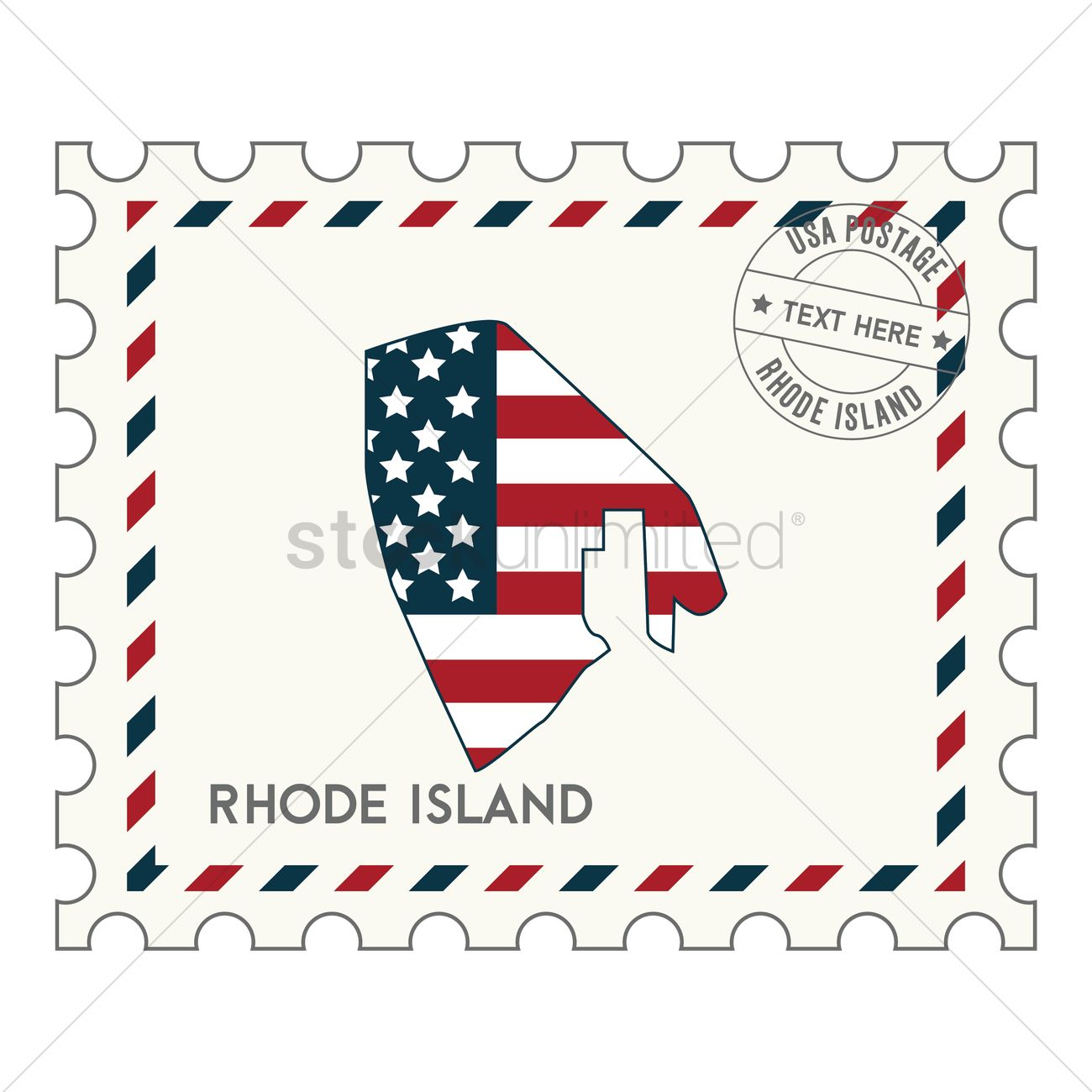 rhode island postage stamp vector image 1550711 stockunlimited