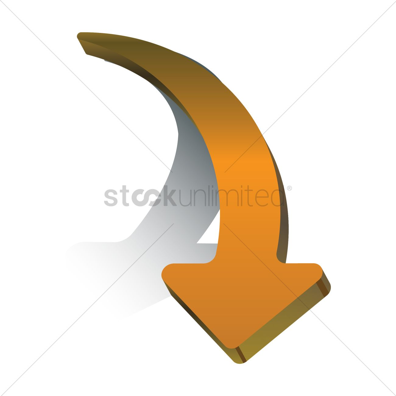 Right Curved Arrow Vector Graphic