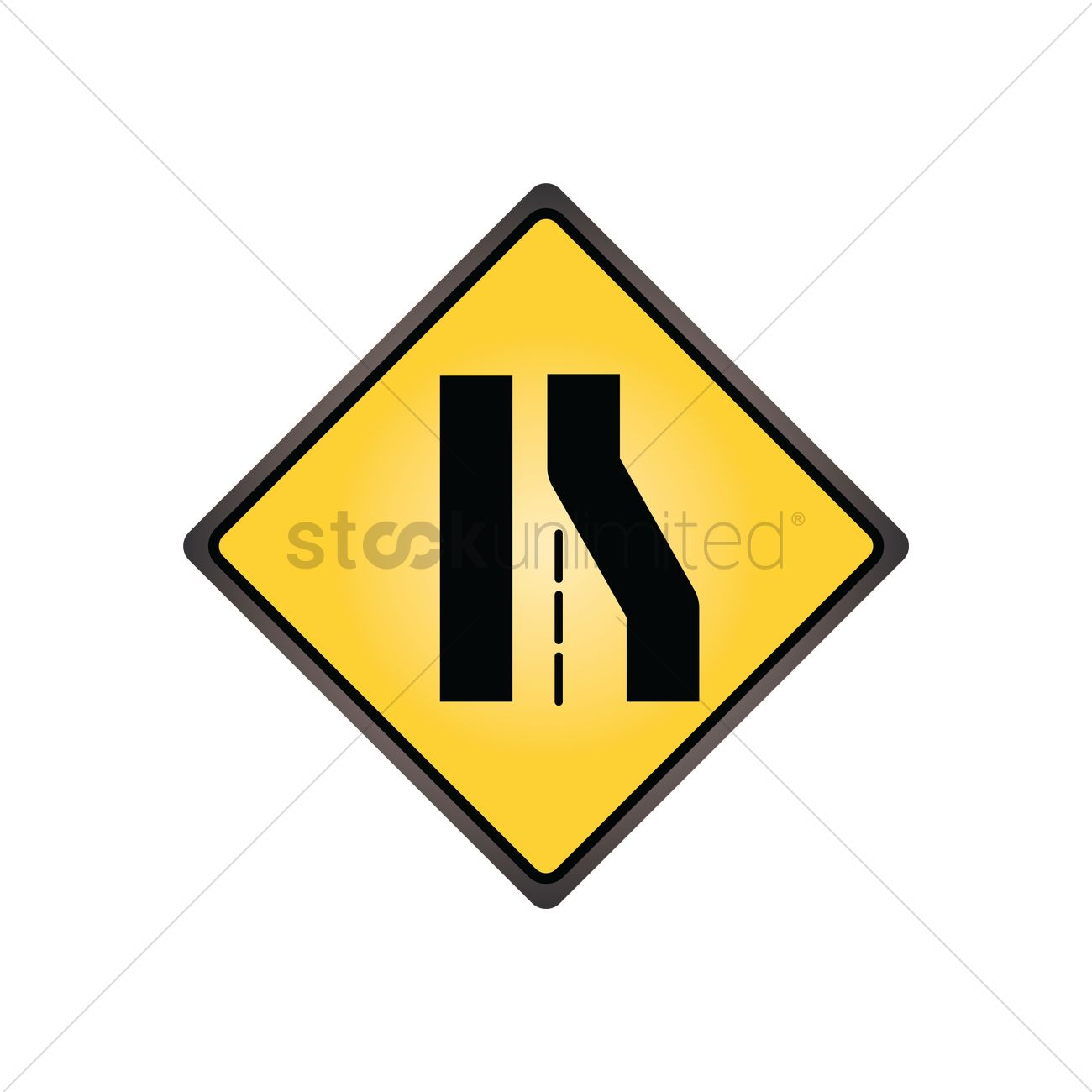 Right lane ends sign vector image 1545035 stockunlimited right lane ends sign vector graphic biocorpaavc