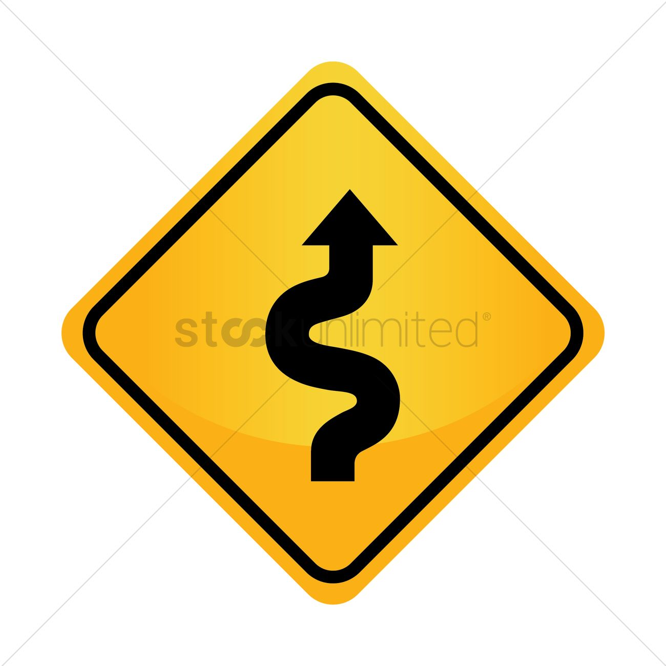 Free right sided winding road sign vector image 1544915 free right sided winding road sign vector graphic publicscrutiny Images