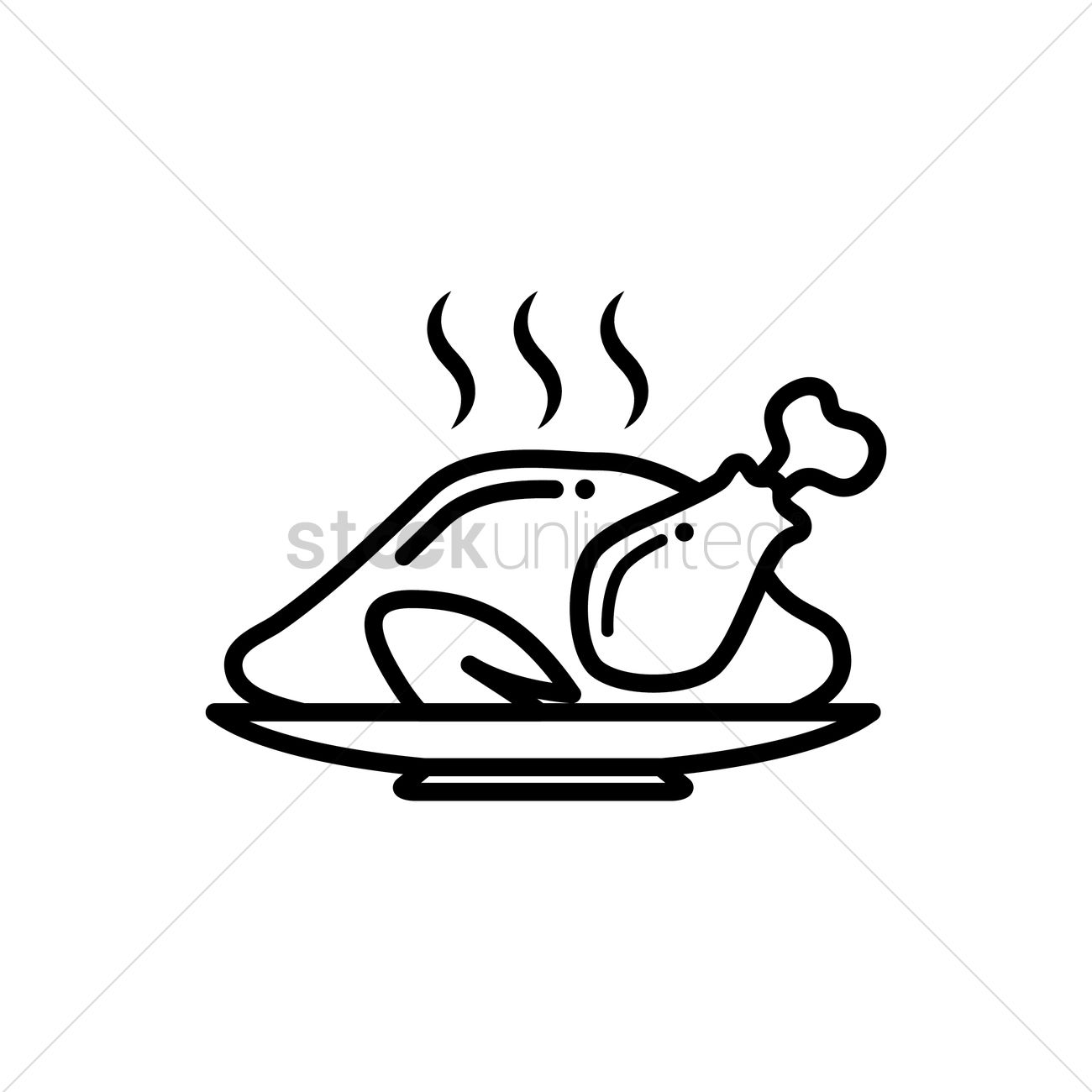 Roast Chicken High-Res Vector Graphic - Getty Images  Roast Chicken Vector