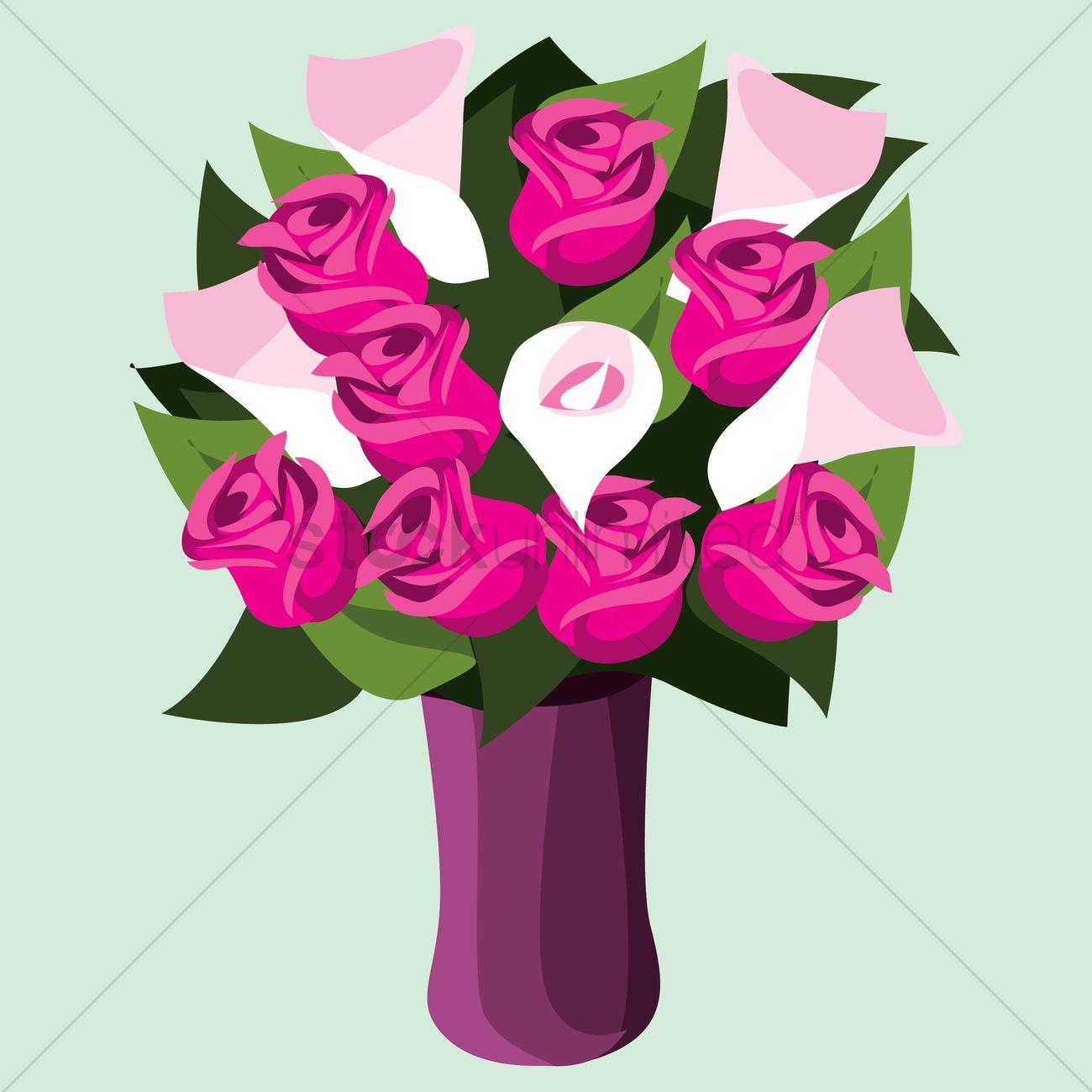 Free rose flowers in vase vector image 1459651 stockunlimited free rose flowers in vase vector graphic reviewsmspy
