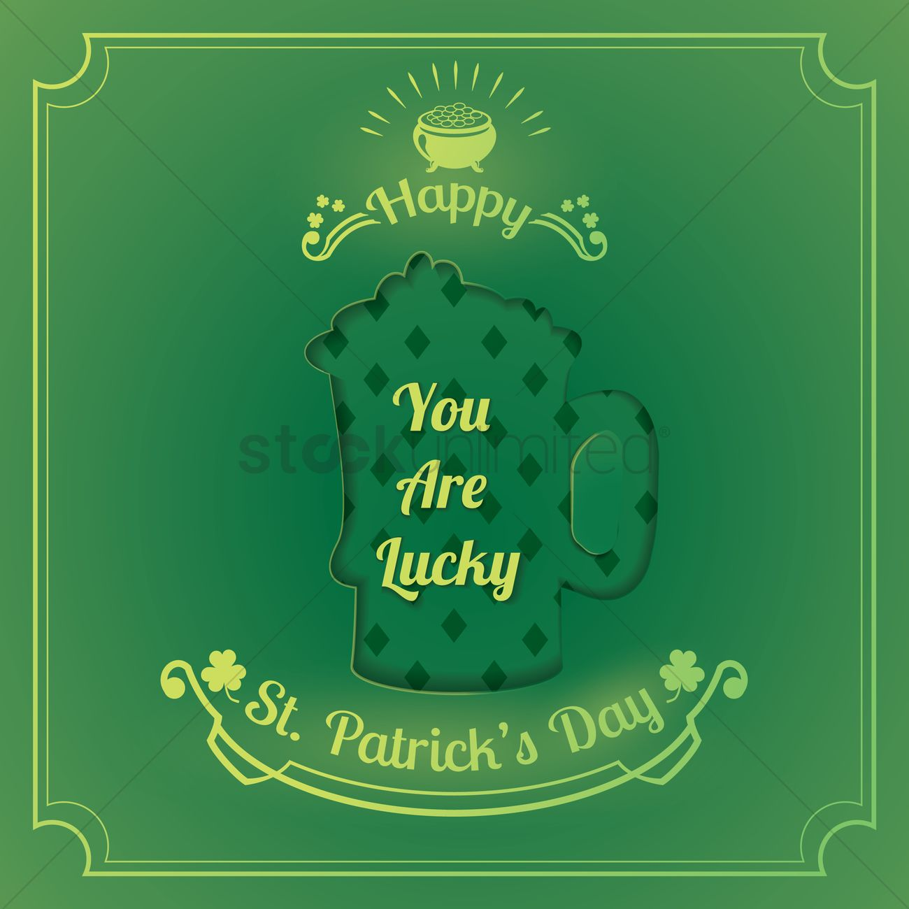 Saint Patricks Day Greeting Vector Image 1959487 Stockunlimited